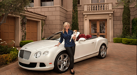 Sarah Robbins with Bentley